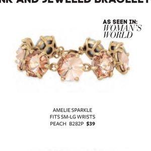 Stella & Dot peach amelie sparkle bracelet